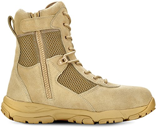 b0e61b2a960 Maelstrom Men's LANDSHIP 8 Inch Military Tactical Duty Work Boot with Zipper