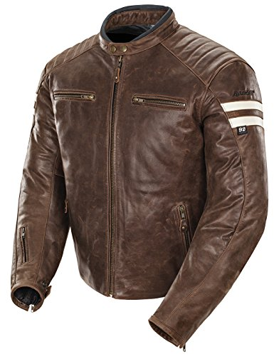 9ae08fbd8 Men's Leather Crossover Scooter Jacket w/Removable CE Armor ...