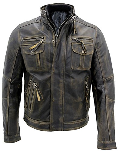8bb6d5169b4b Men's Vintage Cafe Racer Stylish Leather Jackets Collections | Real ...