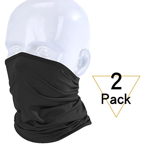 JIUSY 2 Pack Lightweight Neck Gaiter Neck Warmer Face Mask Windproof ... 19745991f2eb