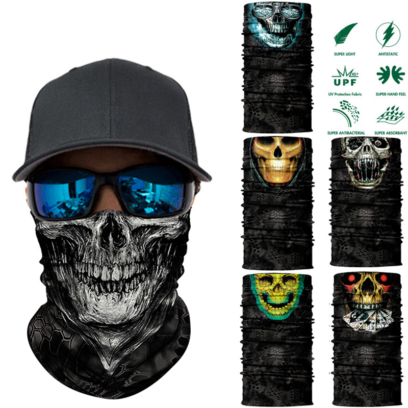 JOEYOUNG Motorcycle Riding Face Mask for Dust Neck Gaiter UV Sun Protection Face Cover Scarf Bandana for Men and Women Running Headwear Breathable Head Wrap Windproof Balaclava Tube Mask